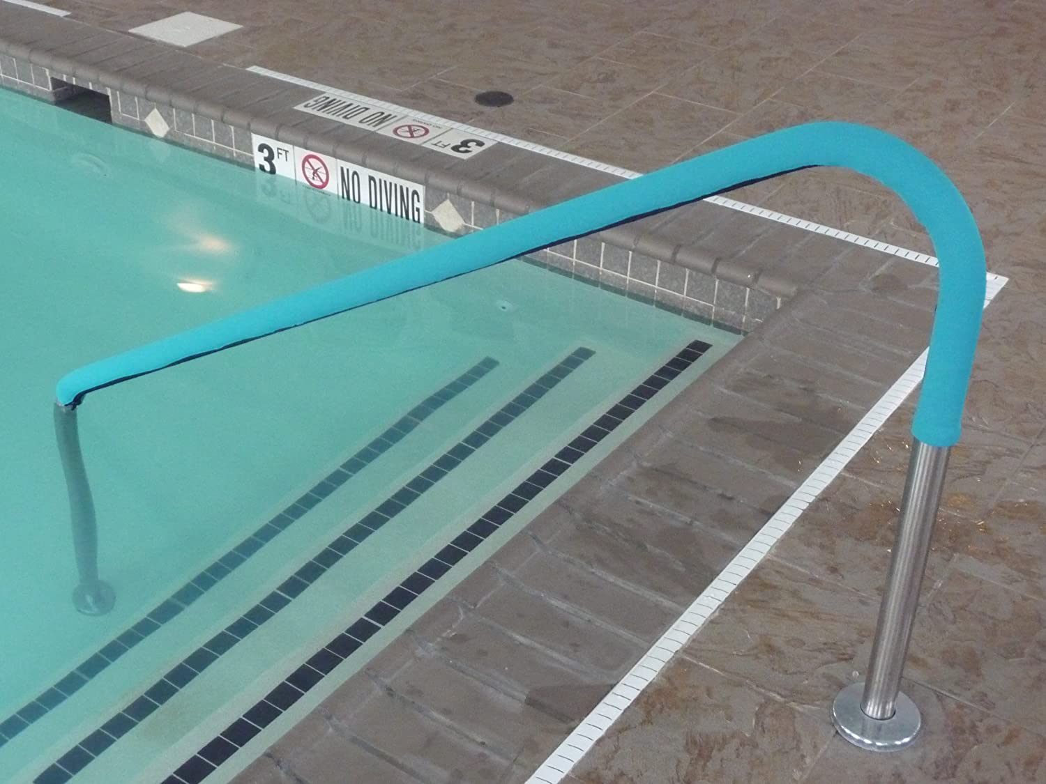 Rail Grips Osrg 6tl Swimming Pool Hand Rail Cover 6 Feet Teal New Free Ship Ebay