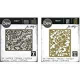 Tim Holtz Sizzix Borderless Background Dies - Organic Thinlit Die and Intricate Lace Die - 2 Items