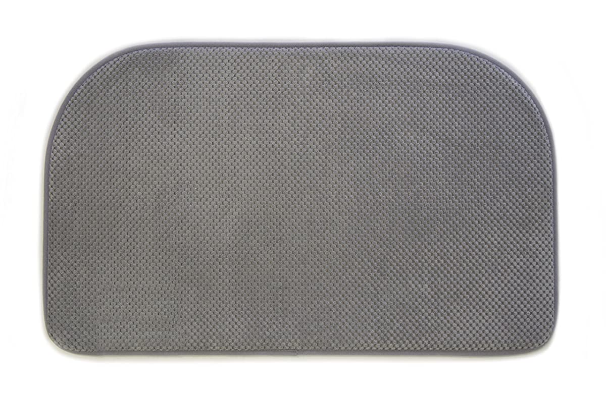 Premium Memory Foam Anti-Fatigue Comfort Mat. Multi-Purpose Non-Slip Textured Rug for the Kitchen, Bathroom, Laundry Room or Office. Talia Collection By Great Bay Home Brand. (Grey)