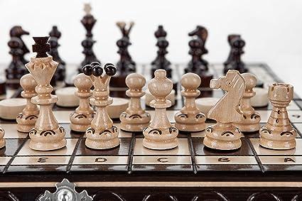 PERLES - jeu d'échecs en bois fabriqués à la main de 35cm/14 in