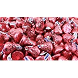 Hershey's Kisses, Milk Chocolate in Pink Foil (Pack of 2 Pound) (Color: Pink, Tamaño: 1 Pack)