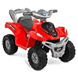 Best Choice Products Kids ATV 6V Toy Quad Battery Power Electric with 4 Wheel Power Bicycle, Red (Color: Red, Tamaño: 26(L) 16(W) 18.5(H))