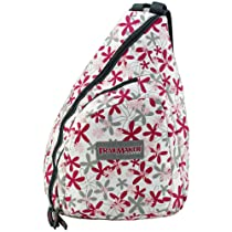 Urban Sport Pink & Gray Daisy Flower Trail Maker Classic School Book Sling Bag