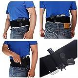 ZHW Adjustable Women Men Band Holster For Concealed Carry,Hand Gun Elastic Holder For Pistols,Waist Band Handgun Carrying System (Right)