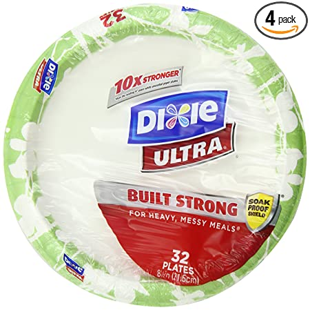 Dixie Ultra Disposable Plates, 8 1/2 Inch, 32 Count (Pack of