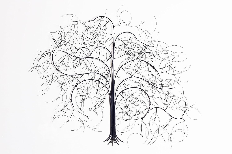 eternity yearning u metal wall art: tree scene metal wall art