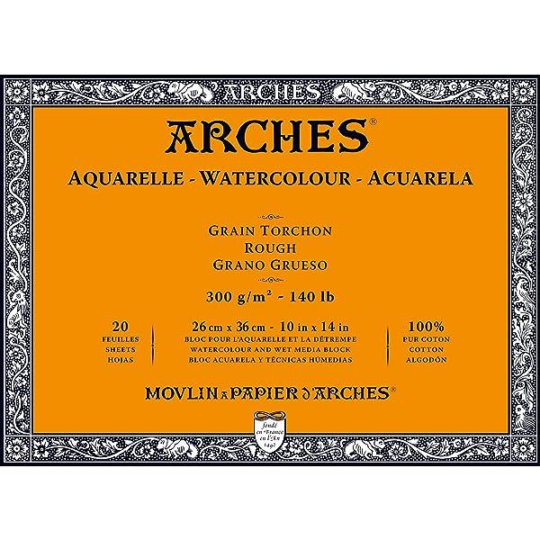 Arches Watercolor Paper Block, Rough, 10 x 14, 140 pound (Tamaño: 10x14)