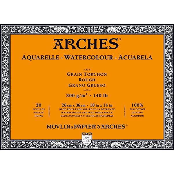 Arches Watercolor Paper Block, Rough, 10 x 14, 140 pound (Tamaño: 10x14)