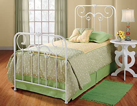 Hillsdale Lindsey Bed Set - Twin with Rails Textured White