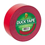 Duck Brand 285637 Color Duck Tape Duct 1.88 Inches x 55 Yards, 1-Roll, Red (Color: Red, Tamaño: 1-Roll, 55 Yards)