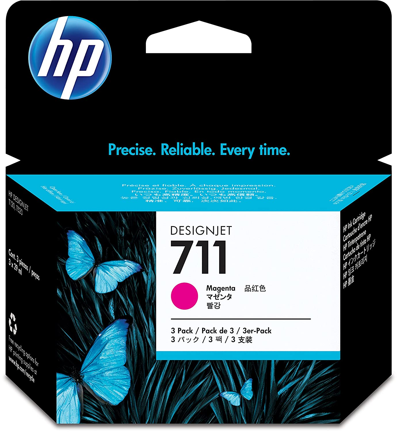 HP 711 29ml Print Cartridge - (Pack of 3)