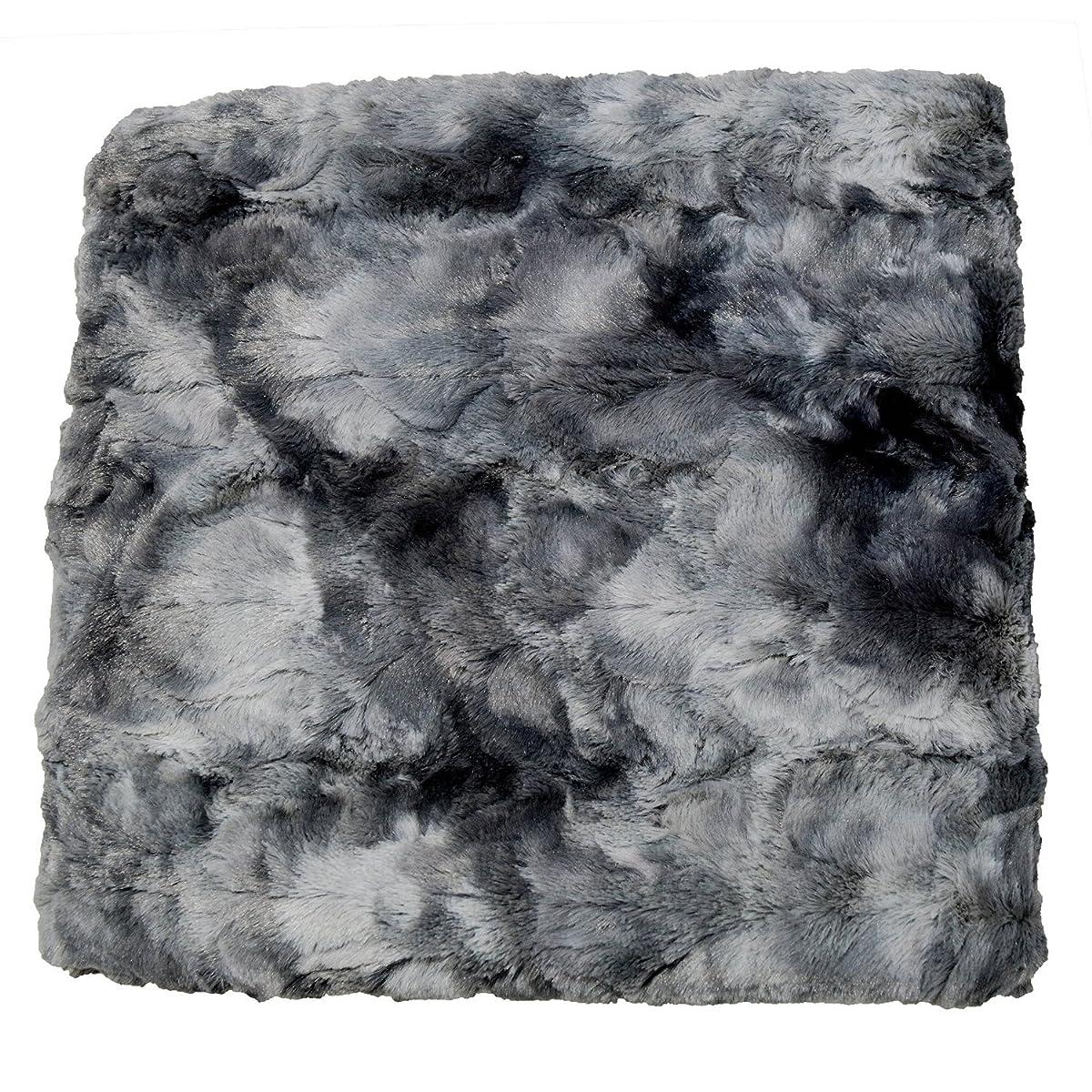 Chanasya Super Soft Fuzzy Fur Faux Fur Cozy Warm Fluffy Beautiful Color Variatiion Print Plush Sherpa Dark Gray Fur Throw Blanket -Charcoal Gray Waivy Fur Pattern