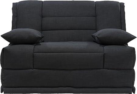 Sitzbank BZ Stoff meliert grau anthrazit Matratze 120x 200sofaconfort Schaumstoff