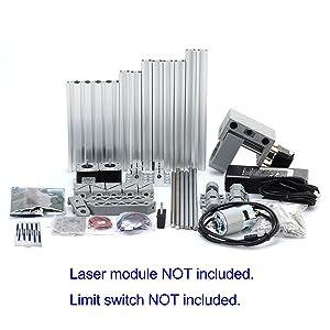 DIY CNC Router Kits 1610 GRBL Control 3 Axis Plastic Acrylic PCB PVC