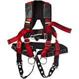 MSA 10041611 TechnaCurv Harness, Vest-Style, BACK, HIP & CHEST D-rings, Tongue Buckle leg straps, Qwik-Fit chest strap, Shoulder Padding, Standard (STD)