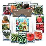 6,600+ Heirloom Seeds, 15 Variety Seed Collection, Instant Garden - Non GMO Heirloom Vegetable Garden Seeds for Planting (Collection Only)