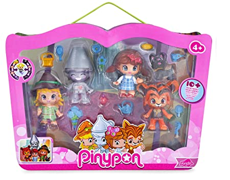 Pinypon - 700013231 - Mini Poupée - Coffret de 4 Figurines le Magicien d'Oz