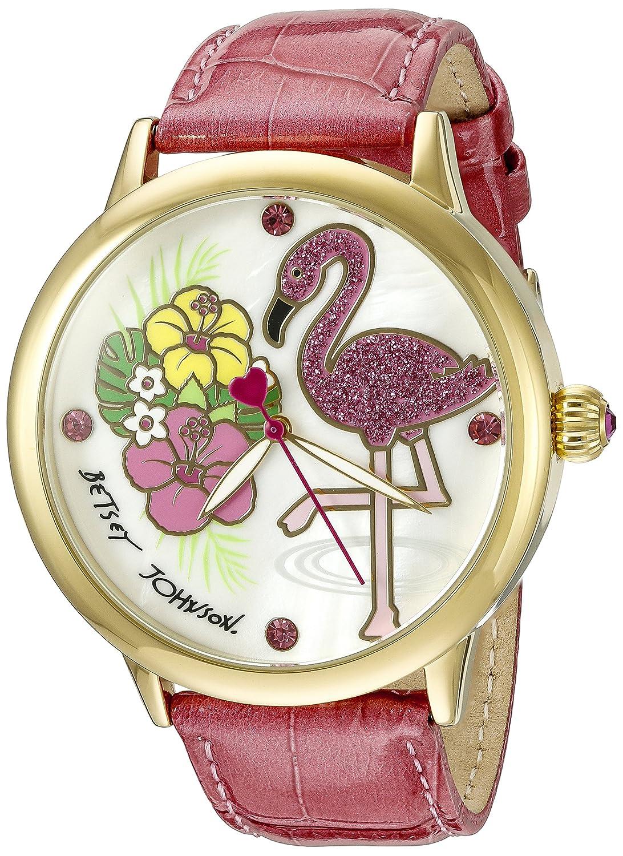 Betsey Johnson Women's BJ00084-77 Analog Display Quartz Pink Watch