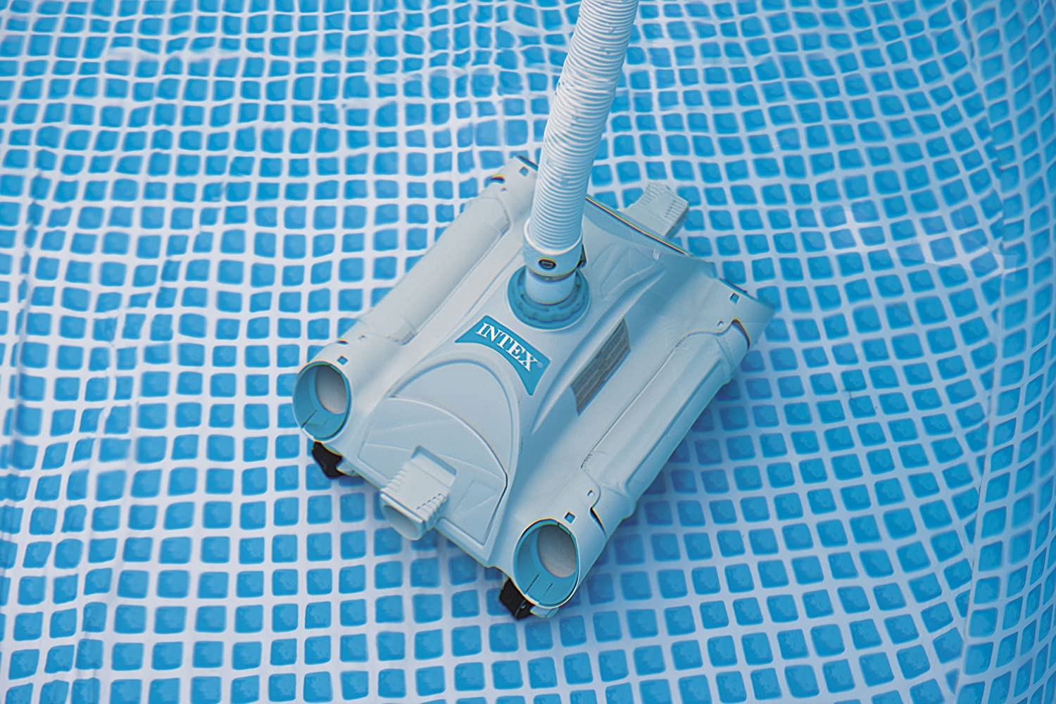 Intex automatic above ground swimming pool vacuum cleaner head auto vac robot ebay for How to use a swimming pool vacuum