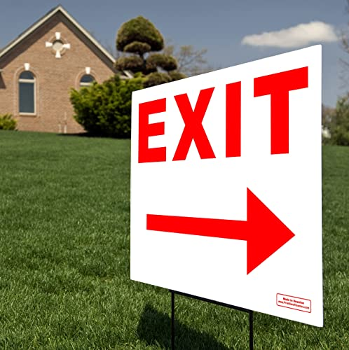 Red Arrow Exit Sign