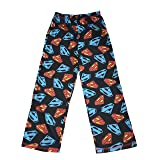 LEGO DC Comics Big Boys' Lounge Pants (Black Superman, M)