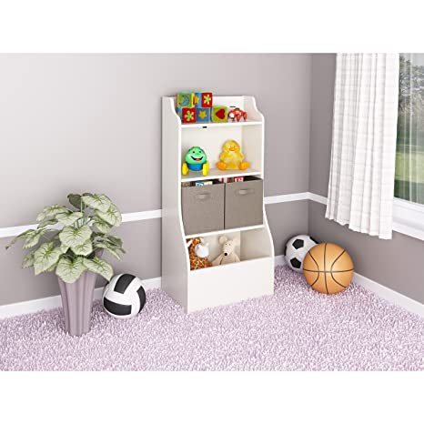 Metro Shop Ameriwood Bookcase with Toy Chest-Bookcase with Toy Chest