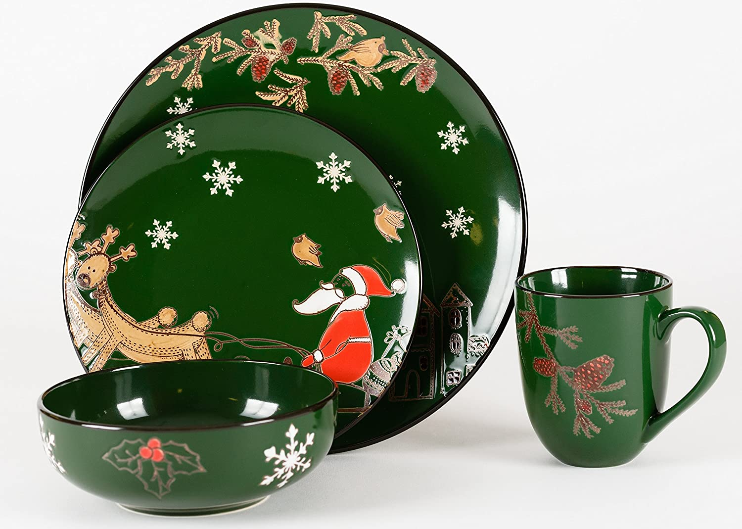 Santa Claus Dinnerware Sets Christmas Wikii