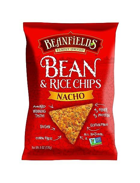 Beanfields Bean & Rice Chips, Nacho, 6 Ounce