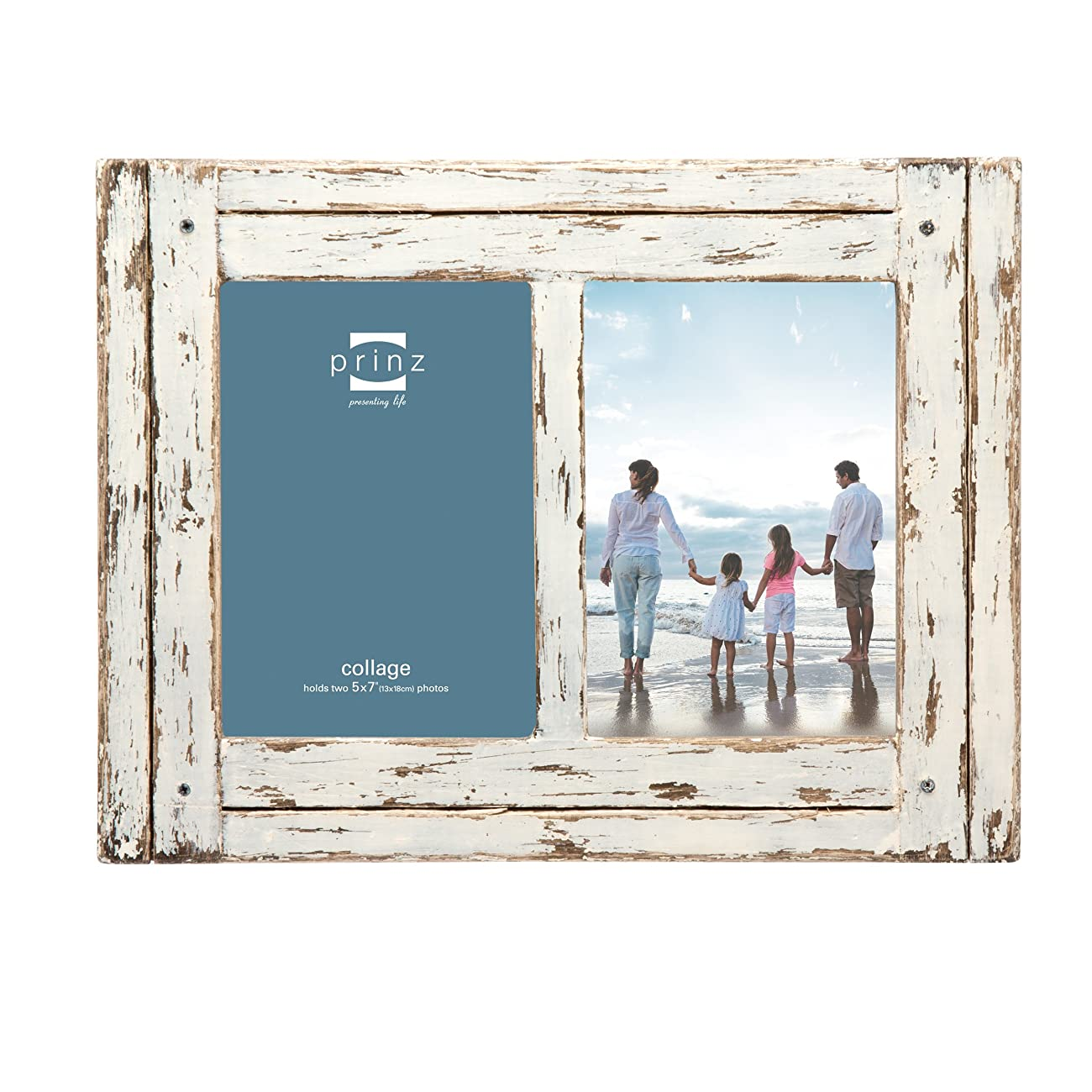 Prinz 2 Opening Homestead Antique Wood Collage Frame, 5 x 7