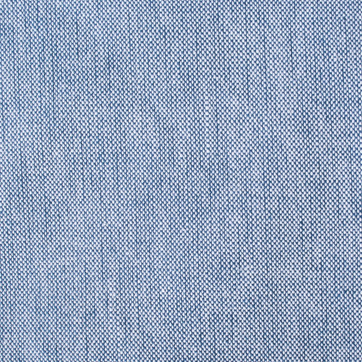 "DII Cotton Chambray Pastel Tablecloth for Spring & Summer with a Denim Woven Look, Use for Family Meals or Gatherings, Weddings, Brunch, Catering Events, or Parties (70"" Round, Seats 4-6 People), Blue"