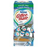 NESTLE COFFEE-MATE Coffee Creamer, Sugar Free French Vanilla, liquid creamer singles, 50 count