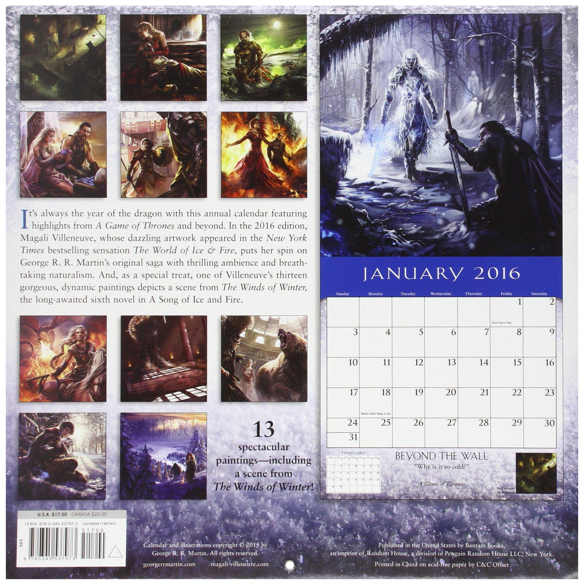 2016 Calendar (Calendar