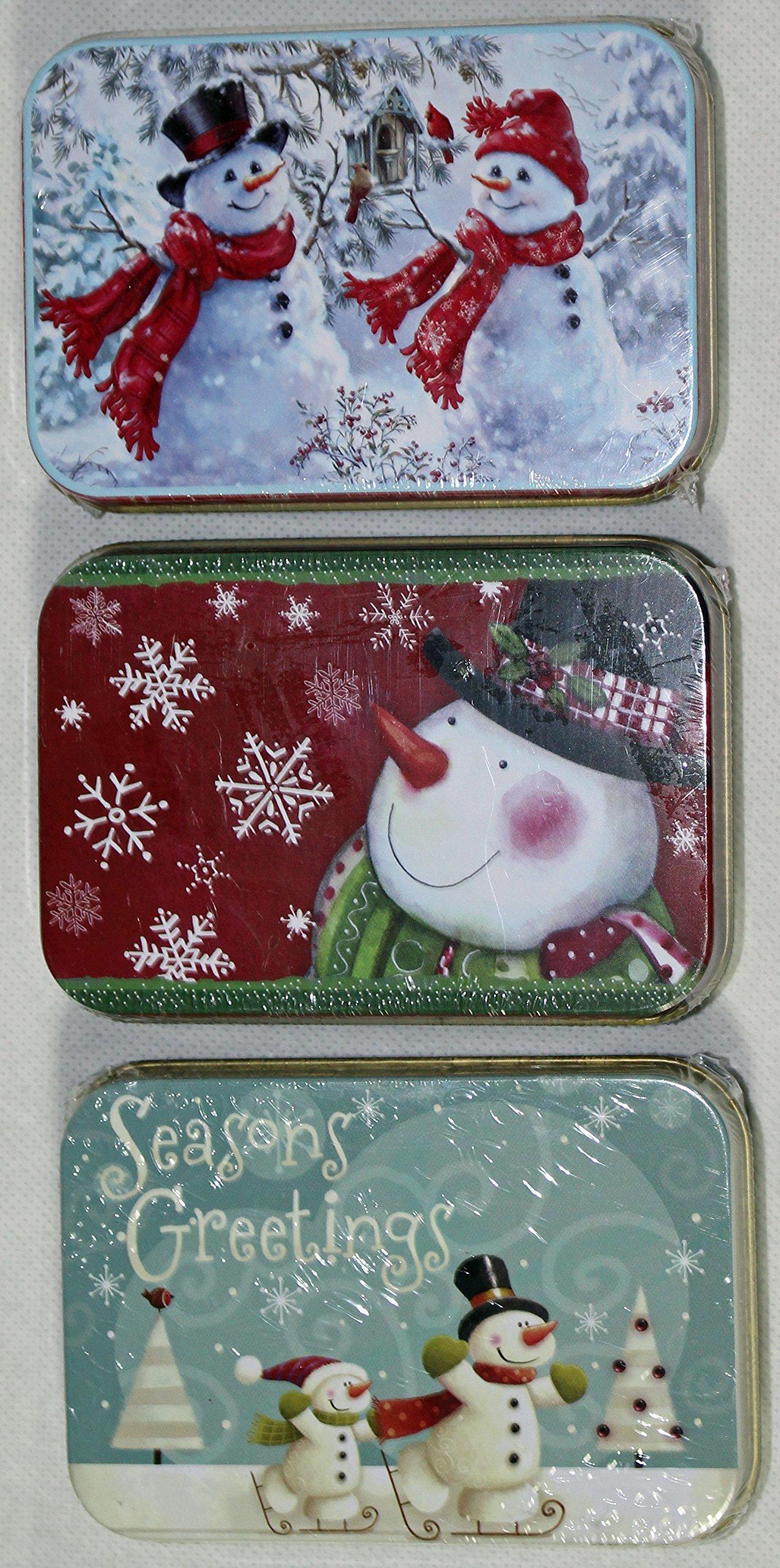 Lindy bowman christmas holiday gift card tin box pack