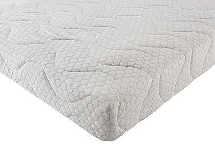 Silentnight-Coprimaterasso Memory laminati a tasca, in cotone, taglie varie, Cotone, Bianco, Single (190 x 90 cm)