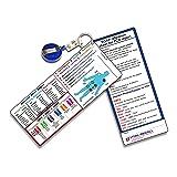 Vital-Recall EMT B Pocket Guide Sheet - - 2 pack