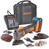 VonHaus 20V MAX Cordless Oscillating Multi-Tool Kit with Variable Speed, LED Light, Dust Extractor and 20 Piece Accessories Set - 2.0Ah Lithium-Ion Battery and Charger Included (Tamaño: Cordless Oscillating Multi-Tool)
