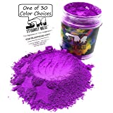 Stardust Mica Neon Pigment Powder for Soap Making Supplies, Slime Coloring, Epoxy Resin, Bright True Fluorescent Colors Cold Process Stable Matte Dye Colorant Purple Orchid (Color: Purple Orchid, Tamaño: 72 Gram Jar)
