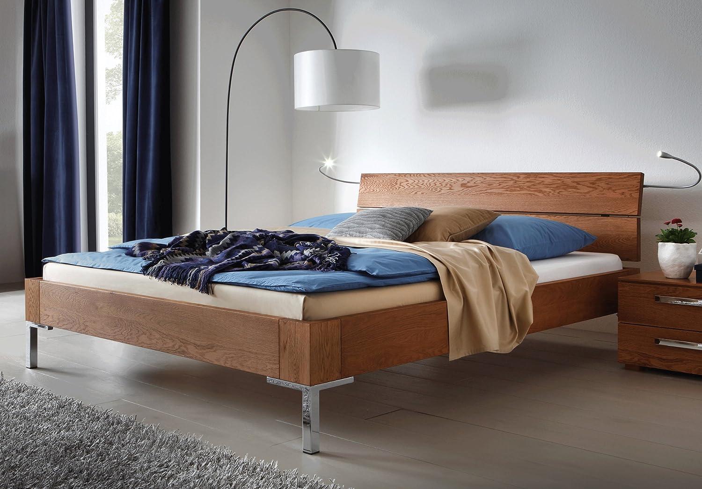 Stilbetten Bett Holzbetten Massivholzbett Morena in Eiche Eiche Graphit geölt 180×200 cm online kaufen