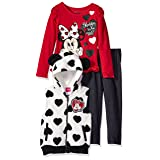 Disney Little Girls' Minnie Mouse Vest and Pant Set, Red, 5 (Color: Red, Tamaño: 5)