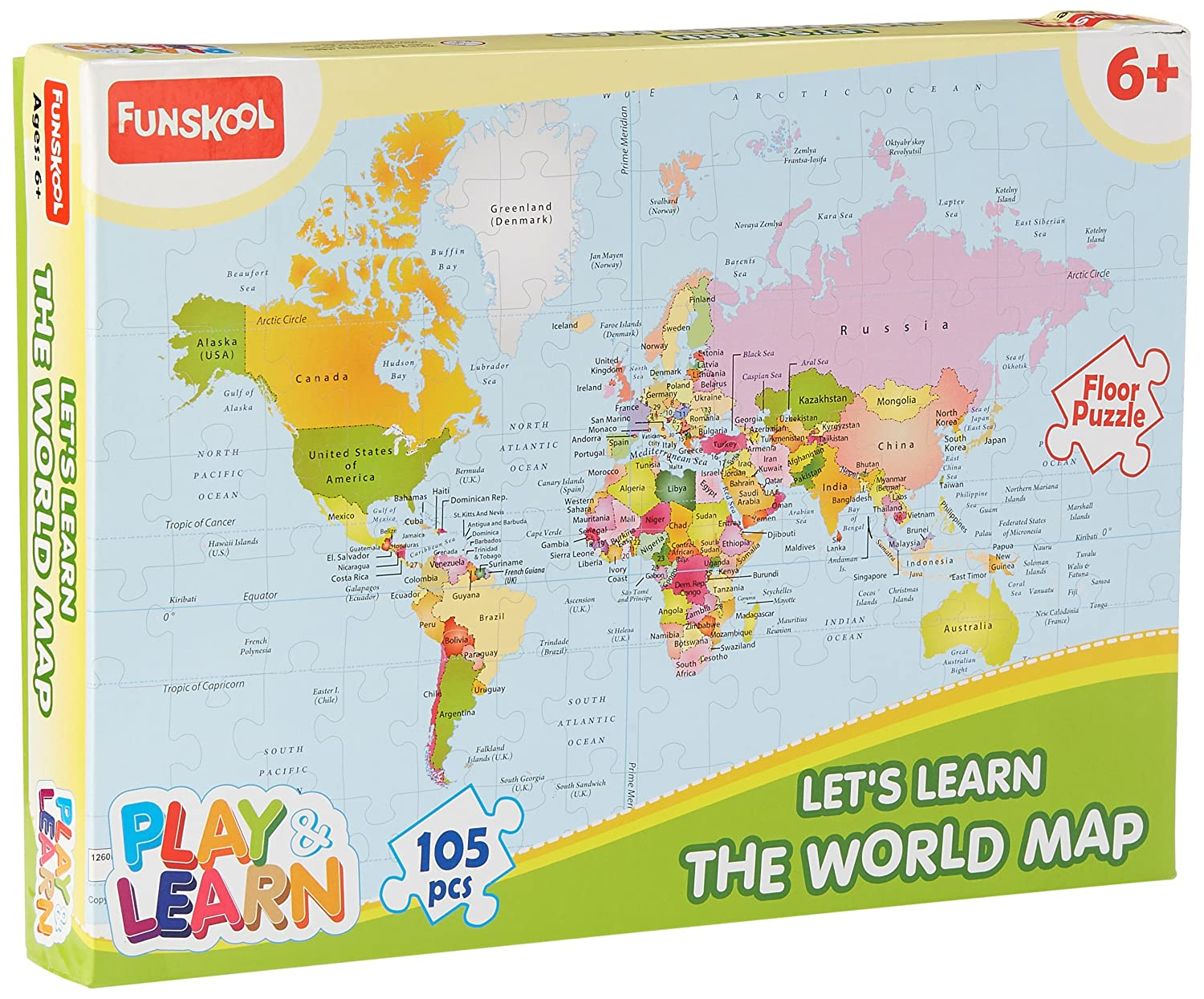 Buy Funskool World Map Puzzles Online At Low Prices In India - Us states map puzzle game