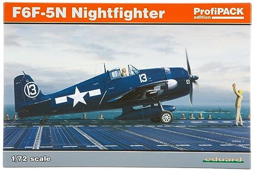 Eduard EDK7079 F6F-5N Hellcat Nightfighter 1:72 Profipack Plastic Kit Maquette