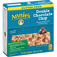 5-Pack Annies Chewy Gluten Free Granola Bars, Double Chocolate Chip, 0.98 Ounce Bars