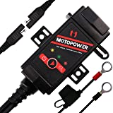 MOTOPOWER MP0608 3.1Amp Motorcycle Dual USB Charger SAE to USB Adapter Battery Monitor with Switch (Color: 4) - SAE to Dual USB Charger & Battery Monitor)