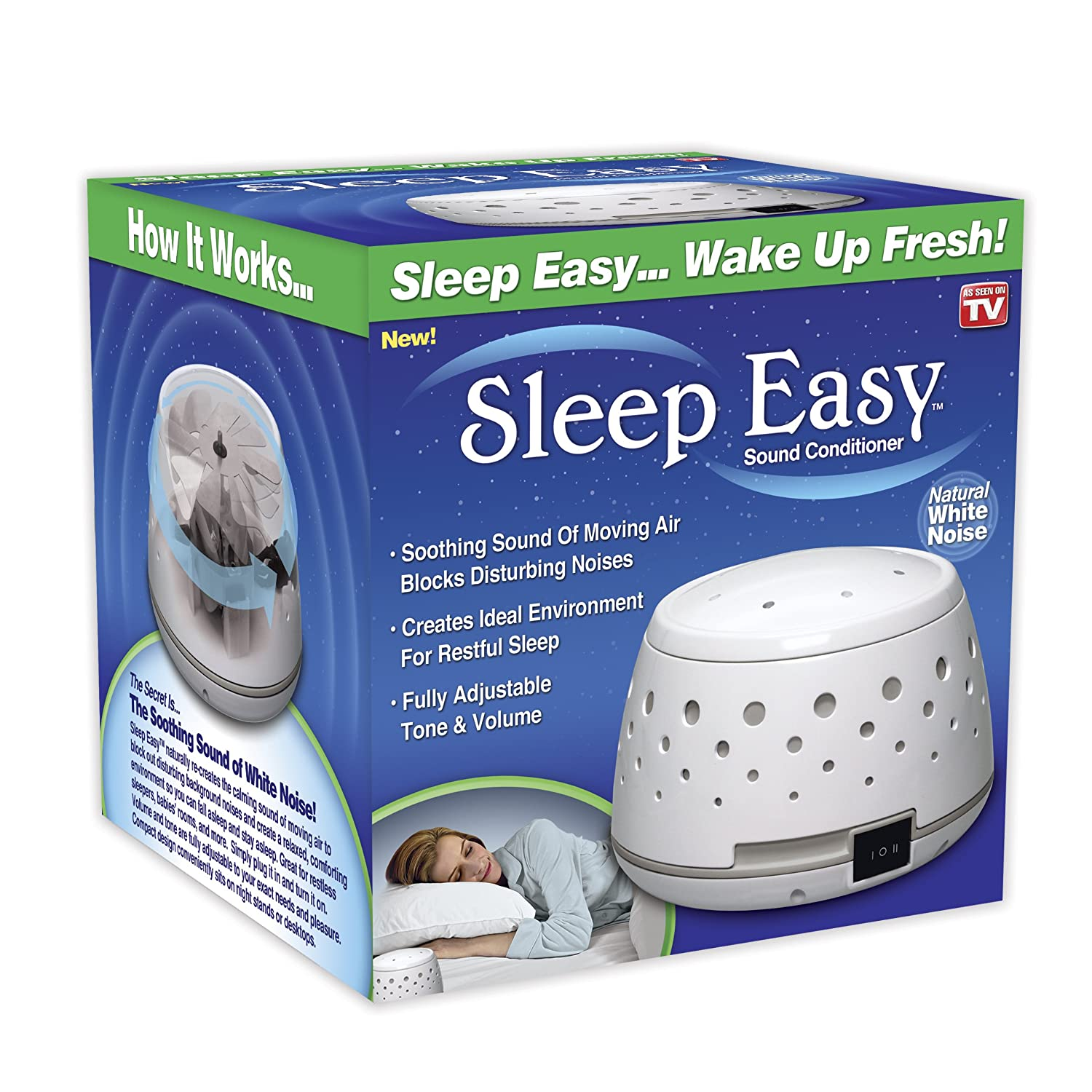new sleep easy sound conditioner soothing white noise machine fully adjustable ebay. Black Bedroom Furniture Sets. Home Design Ideas