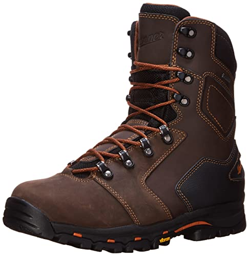 Danner Men's Vicious 8 Inch Work Boot,Brown/Orange,10.5 D US