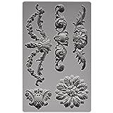 Prima Marketing 814793 Baroque No.3 Iron Orchid Designs Vintage Art Decor Mold, Grey (Color: Grey)