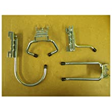Triton Products 1745 Storability LocHook 4-Piece Hook Assortment for Combination Rail