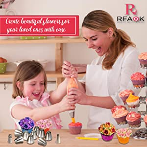 RFAQK Russian Piping Tips (70 pcs) (Tamaño: 70 pcs)