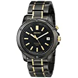 Seiko Men's SNQ045 Perpetual Calendar Black Ion Dress Watch (Color: Black, Tamaño: NO SIZE)