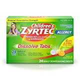Children's Zyrtec Allergy Relief Dissolve Tablets With Cetirizine, Citrus Flavored, 24 Count